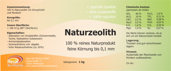 Naturzeolith - feine Körnung bis 0,1mm