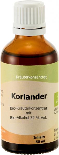 Koriander Bio, 50 ml - verbesserte Kräutertinkturmischung